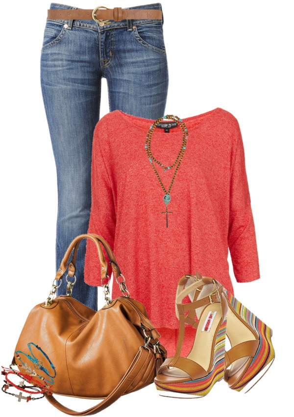 """""""Multi colour Wedges"""" by elenh2005 on Polyvore"""