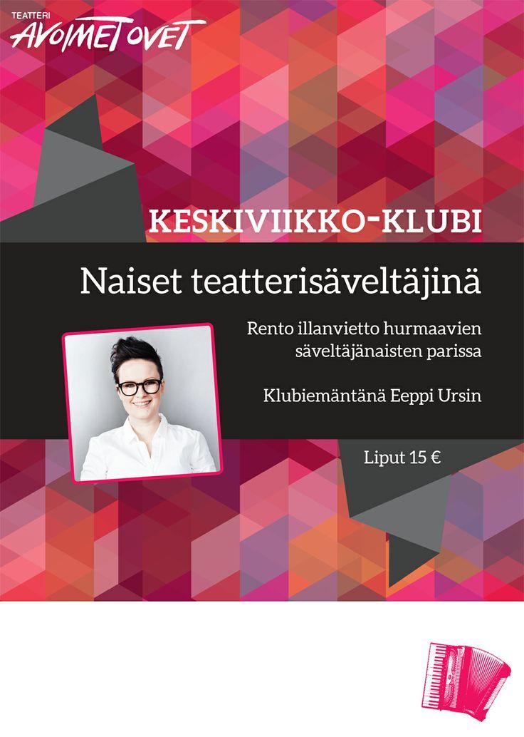 Teatteri Avoimet Ovet - Keskiviikko-klubi, juliste
