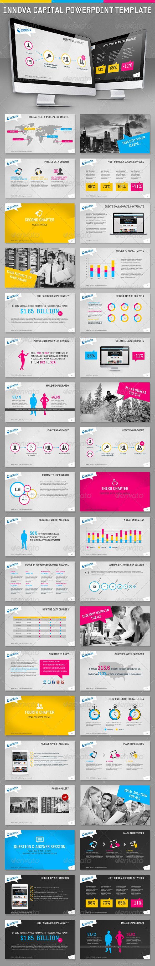 Innova Capital HD PowerPoint Template - Powerpoint Templates Presentation Templates
