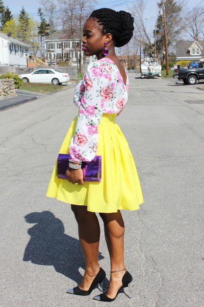 .: Mi Style, Full Skirts, Style Inspiration, Fashion Spr, Yellow Skirts, Fashion Inspiration, Girly Girl, My Style, Black Girls