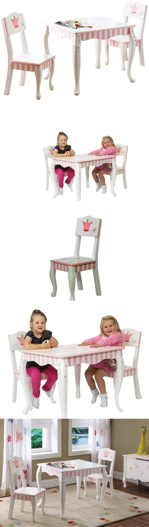 Teamson Kids Girls Table and Chairs Set - Princess & Frog Room Collection Safe, Sturdy & Eco-Friendly Wood with Lead Free Paints - CPSIA Compliant. Carefully Packaged Unique Hand Painted Hand Carved Design by Skilled Craftsman. Suitable for Kids Bedroom and Playroom to develop Imagination and Creativity with Whimsical Pieces. Easy Assembly; Best Gift for Kids Birthday; Christmas Gift; Baby Shower ... #Teamson_Design_Corp #Toy