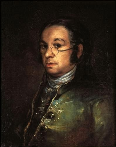 Goya, Francisco (1746-1828) - 1801c. Self-Portrait with Spectacles (Museum Bonnat, Bayonne, France), for more please visit http://painting-in-oil.com/artworks-El-Greco-page-1-delta-ALL.html