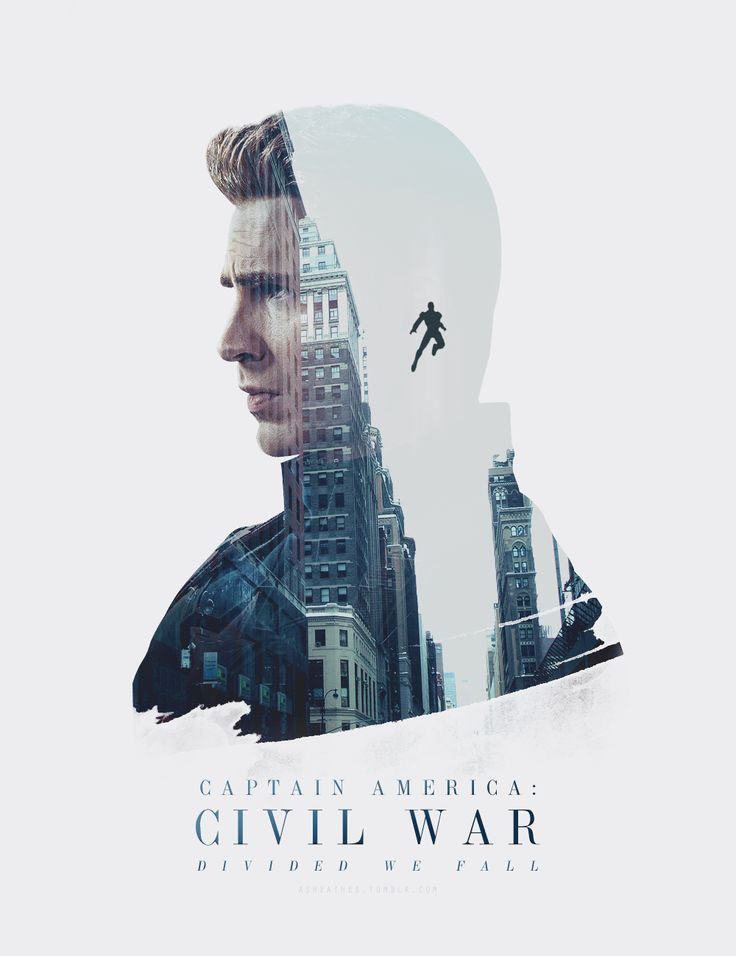 Another Captain America edit, with double exposure that I think was effectively used.
