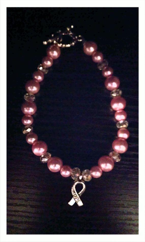 breast cancer magnetic bracelet pink jpg 422x640