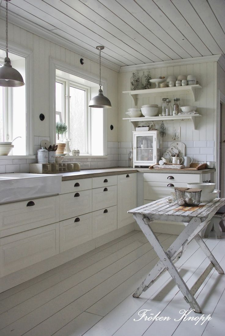 Best 25 Rustic White Kitchens Ideas On Pinterest White