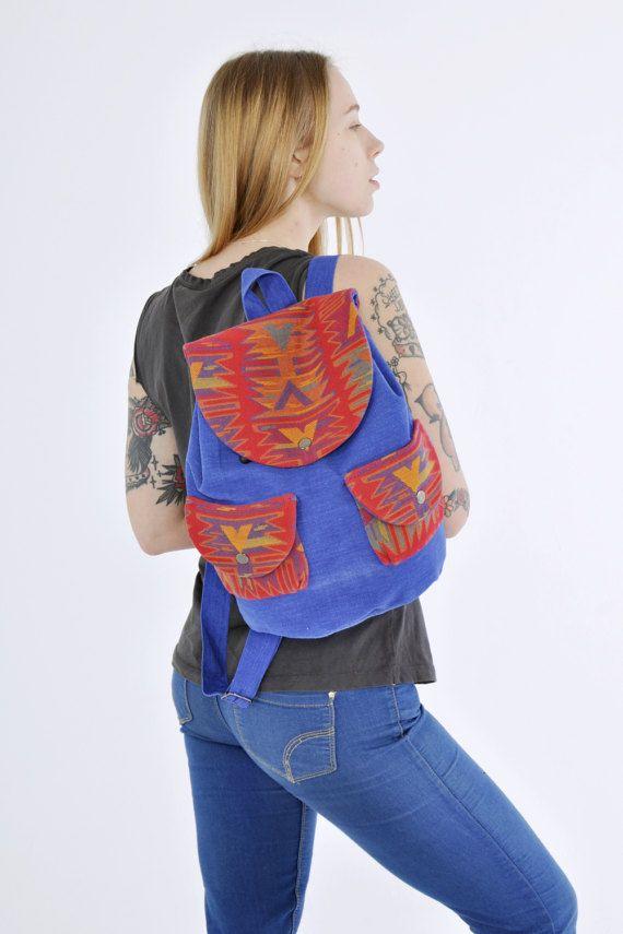 VENTA 30% de nativos americanos de tela de mochila mochila
