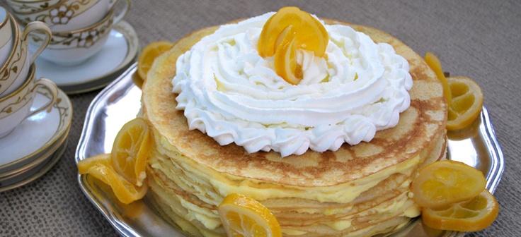 Gluten-Free Meyer Lemon Crepe Cake