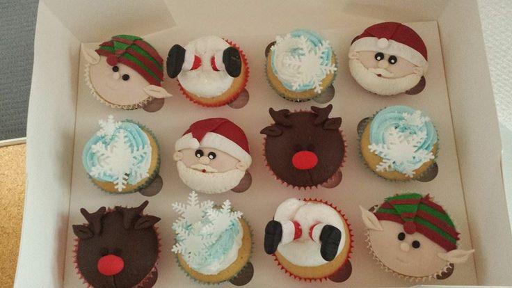 Elf, Santa, Reindeer, Snowflake and Santa stuck in the chimney