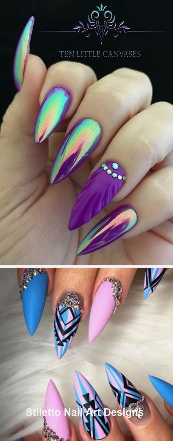 30 große Stiletto Nail Art Design-Ideen #nailart #naildesign – Nail