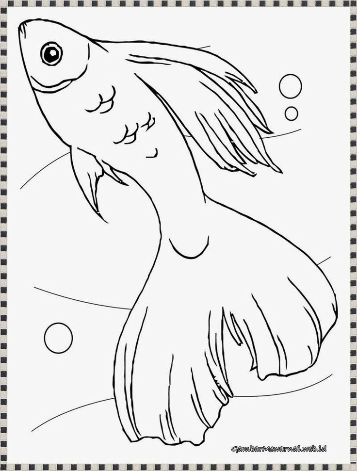 gambar mewarnai ikan guppy