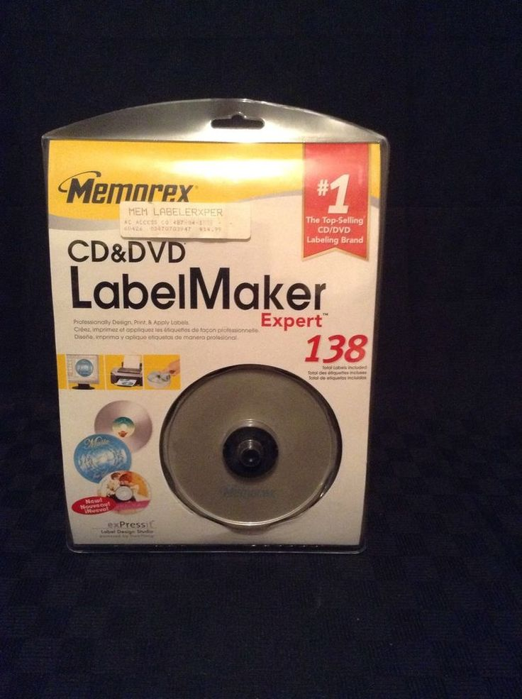 memorex label making software