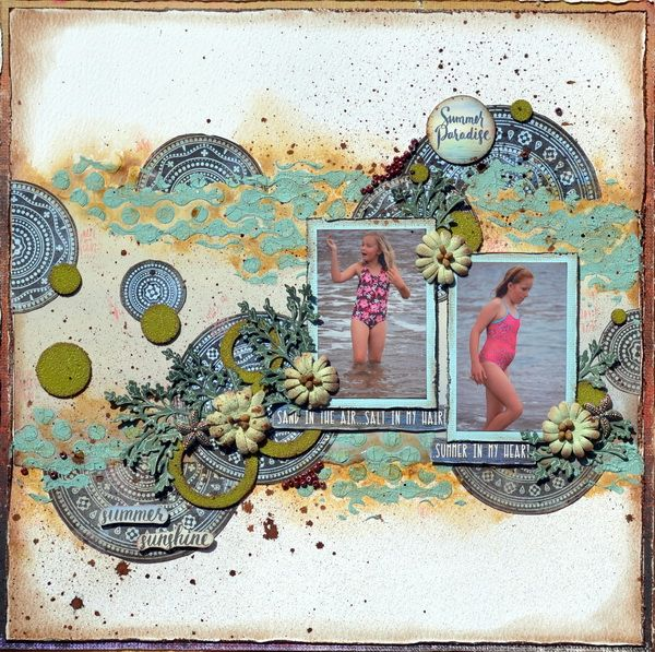 Single-page layout by Denise van Deventer using the Summer Breeze Collection.