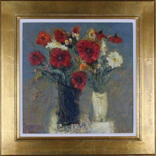 Nael Hanna Garden Poppies Oils | Scottish Contemporary Art