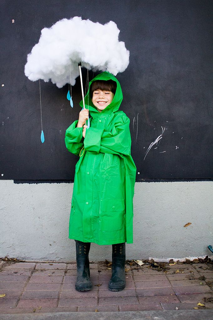 Follow this simple tutorial on how to make your own rain cloud Halloween costume Bring a little sunshine to those around. DIY