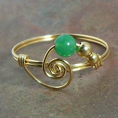 Wire ring.  Easy and lots of ways to adapt.