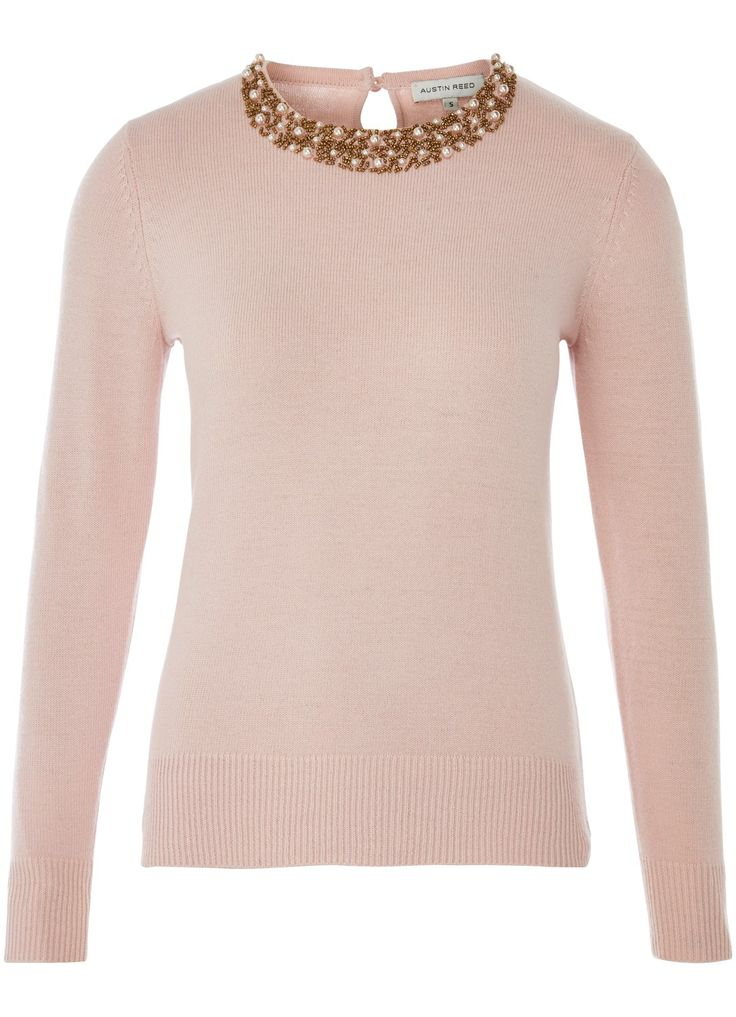 What is #ValentinesDay without a touch of pink? Try a cosy sweater with detailed embellishment from @austinreeduk in #RegentStreet.
