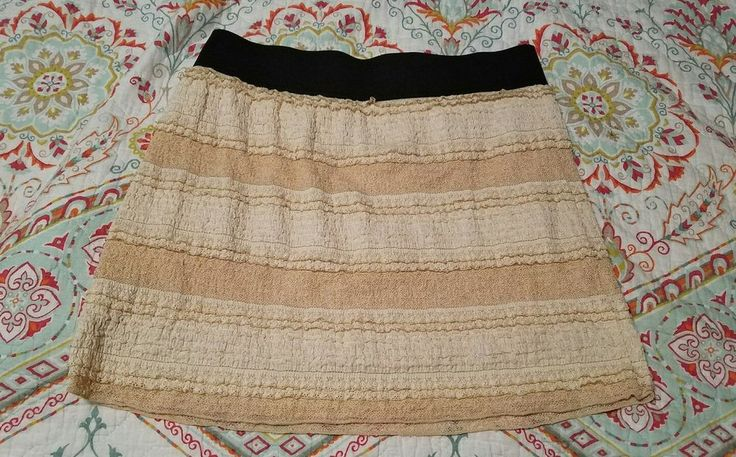 Free People Beige Lace Puckered Texture Mini Skirt Womens SMALL Summer Cover-up  | Clothing, Shoes & Accessories, Women's Clothing, Skirts | eBay!
