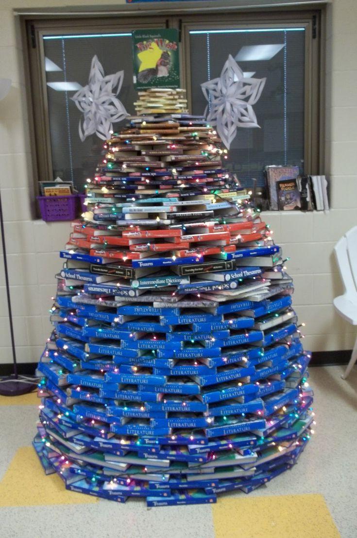 Christmas tree classroom door decorations - 40 Classroom Christmas Decorations Ideas For 2016 Decoration Love Book Tree Classroom Door