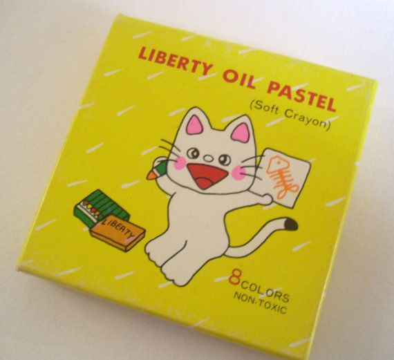 Liberty Oil Pastel Colors 80s Soft Crayons Kitschy by JirjiMirji, €8.90