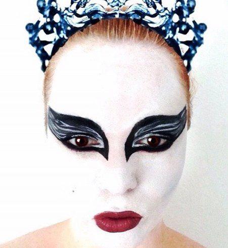 Maquillage d'Halloween : Black Swan