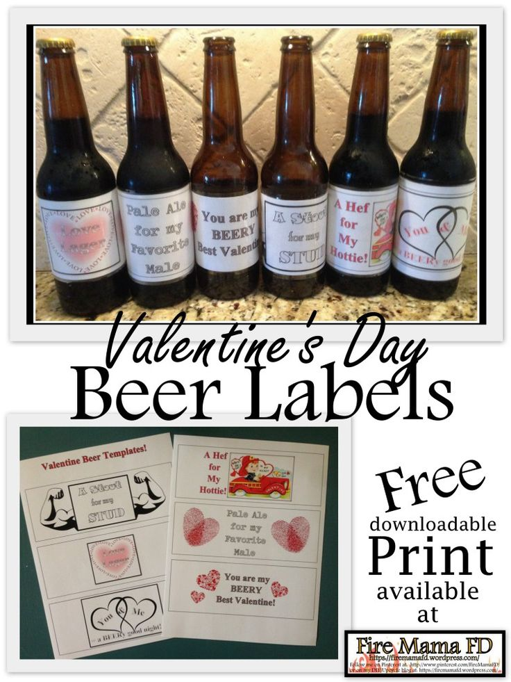 A free downloadable print for Valentine's Day Beer Labels ...