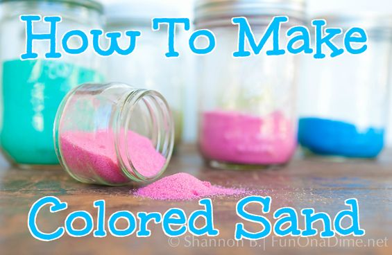 Ever wondered how to make an inexpensive way to make colored sand. Let me show you how we made colored sand two different ways