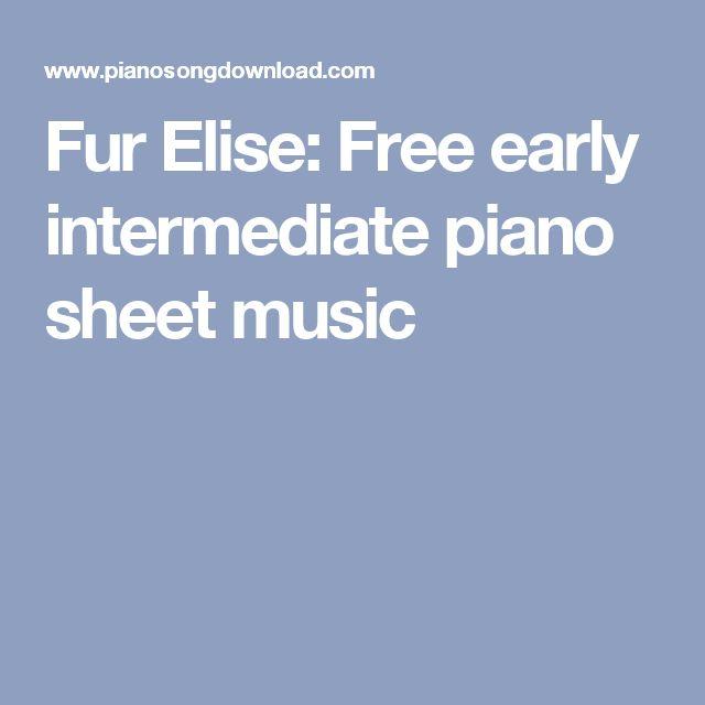 Fur Elise: Free early intermediate piano sheet music