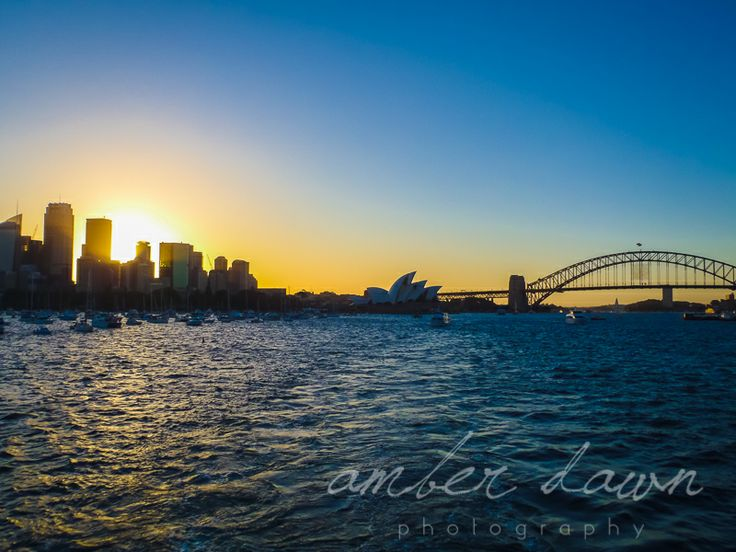 Sydney Harbour at Sunset.  Beauty.  Amber Dawn Photography | Travel photography | Trinidad and Tobago photographer