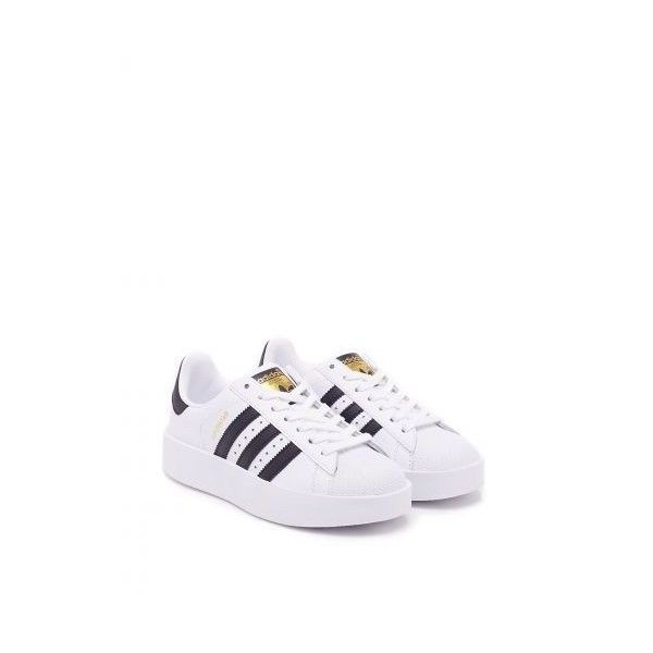 Superstar Bold Sneakers (€68) ❤ liked on Polyvore featuring shoes, sneakers, lace up shoes, rubber sole shoes, lace up sneakers, adidas originals shoes and leather lace up shoes