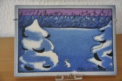 アラビア ヘルヤ ARABIA Helja うさぎの陶板