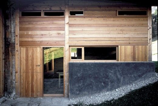Charles Pictet, Traditional Mountain Ski Cottage Holiday House Conversion, Vaud, Switzerland, 2000.