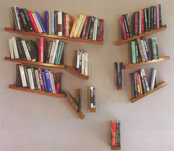 What a fun book shelf! It's like orderly chaos :)