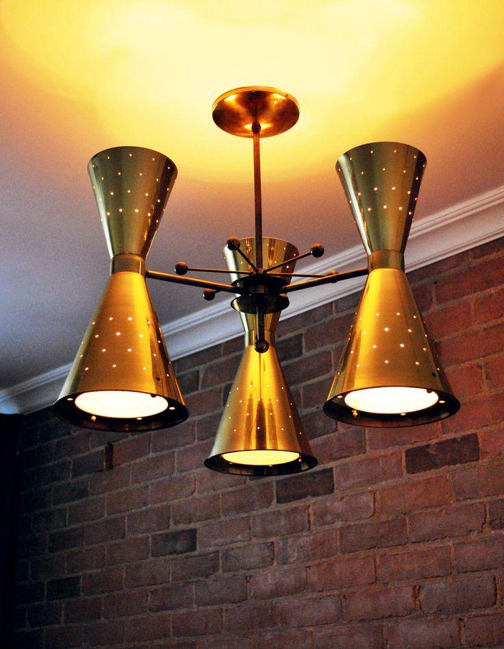 atomic lighting. delighful lighting mid century modern eames era atomic brass stilnovo double cone ceiling lamp   ebay for lighting i