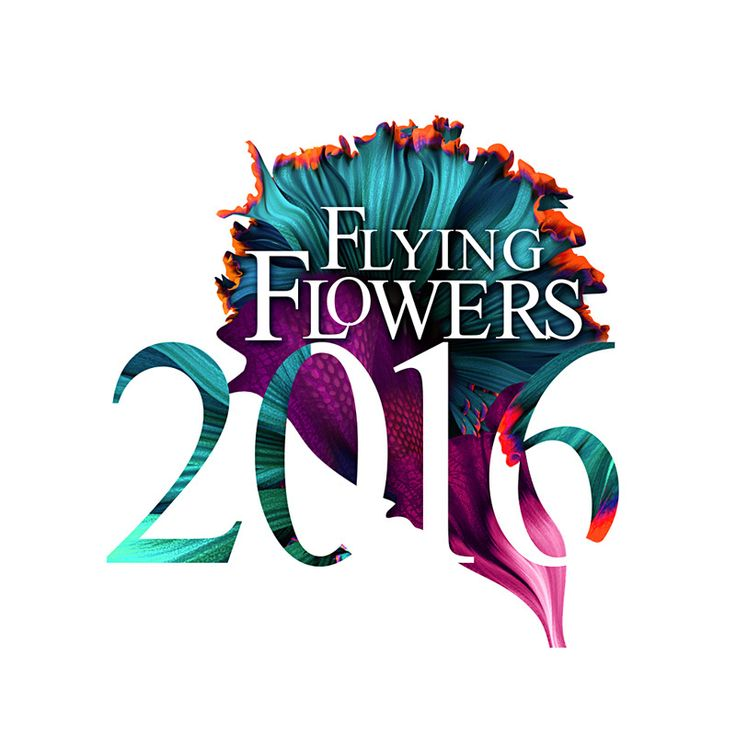 Flying Flowers 2016 Cuando el arte y la fuente se unen, galería de diseños By Artur Szygulski mi recomendado para ir mas allá en el diseño y tipografía…