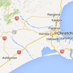 Christchurch to Waimate, New Zealand - Google Maps