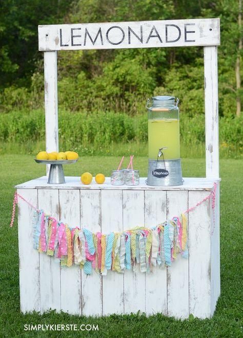 51 best lemonade stand images on pinterest lemonade for Lemon shaped lemonade stand