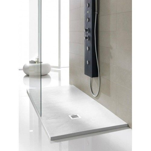 Piatto doccia in pietra naturale Solid Stone bianco
