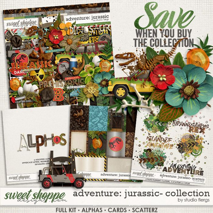 Adventure: Jurassic- COLLECTION & *FWP* by Studio Flergs