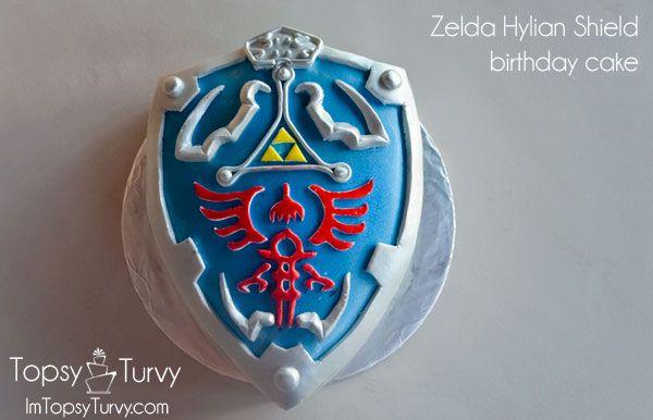 Hylian Shield Birthday Cake