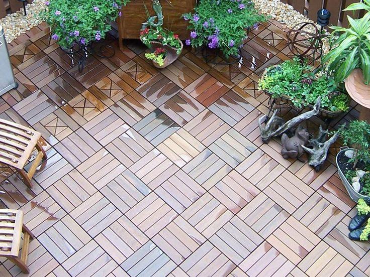 Ipe Wood Deck Tiles - Quick and Easy Outdoor Flooring