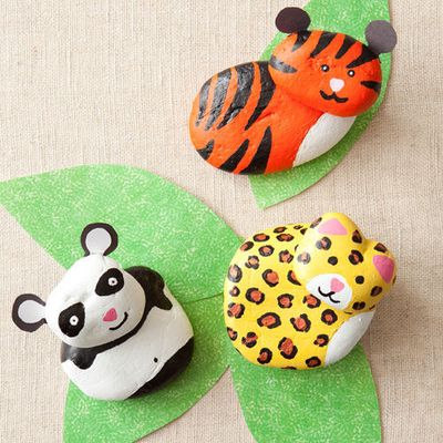 Fun #craft for kids: DIY Rock Animal Buddies