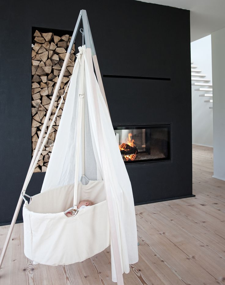 Beautiful hanging baby cradle by Leander | Available at cuckooland.com                                                                                                                                                                                 More