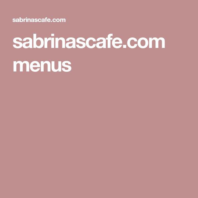 sabrinascafe.com menus