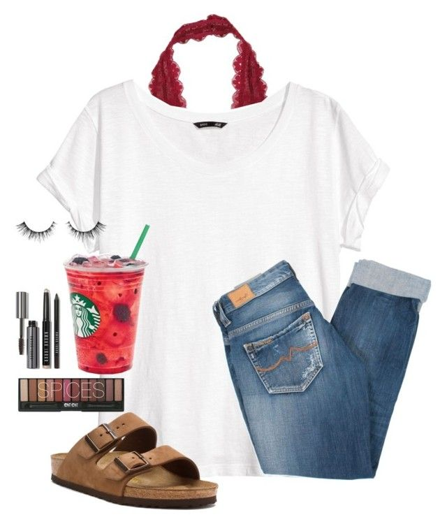 """""""Just got back from practice"""" by madison426 ❤ liked on Polyvore featuring Bobbi Brown Cosmetics, Free People, H&M, Birkenstock, Pepe Jeans London, women's clothing, women, female, woman and misses"""