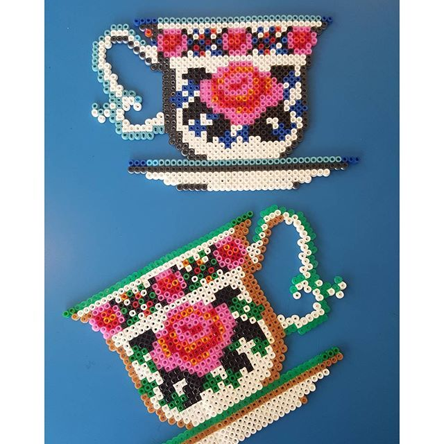 Tea time hama beads by annzimmermann1