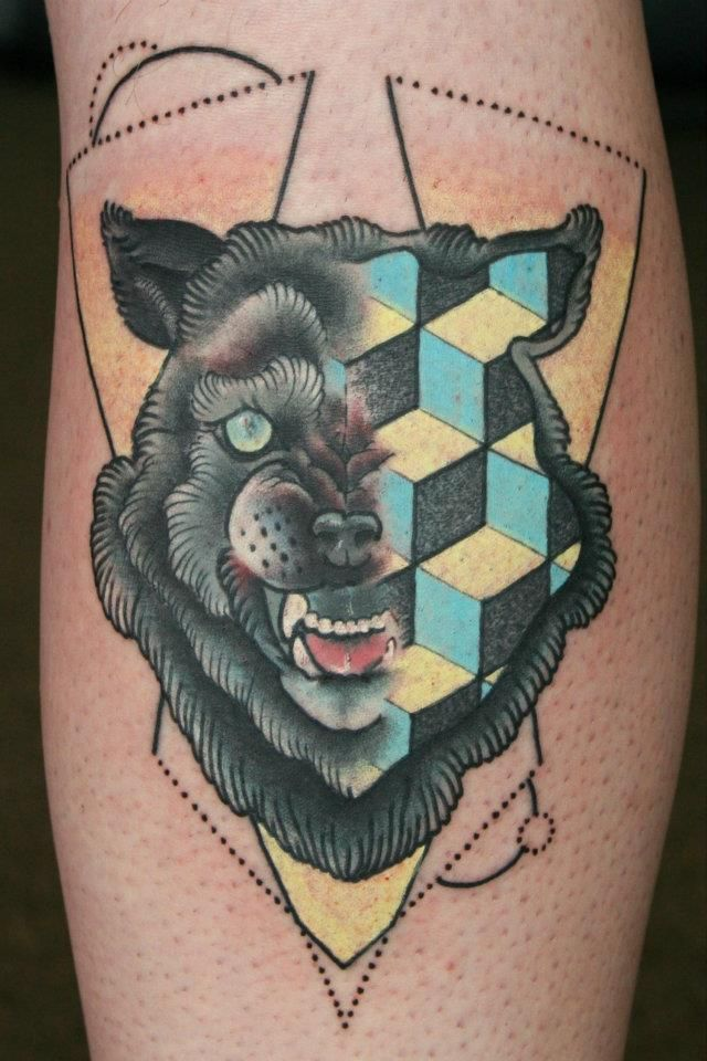 animals and geometry... my favorite trend in tattos right now. cody eich.