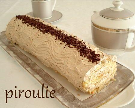 roulé crème mousseline café
