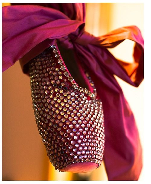 bejeweled pointe shoe.