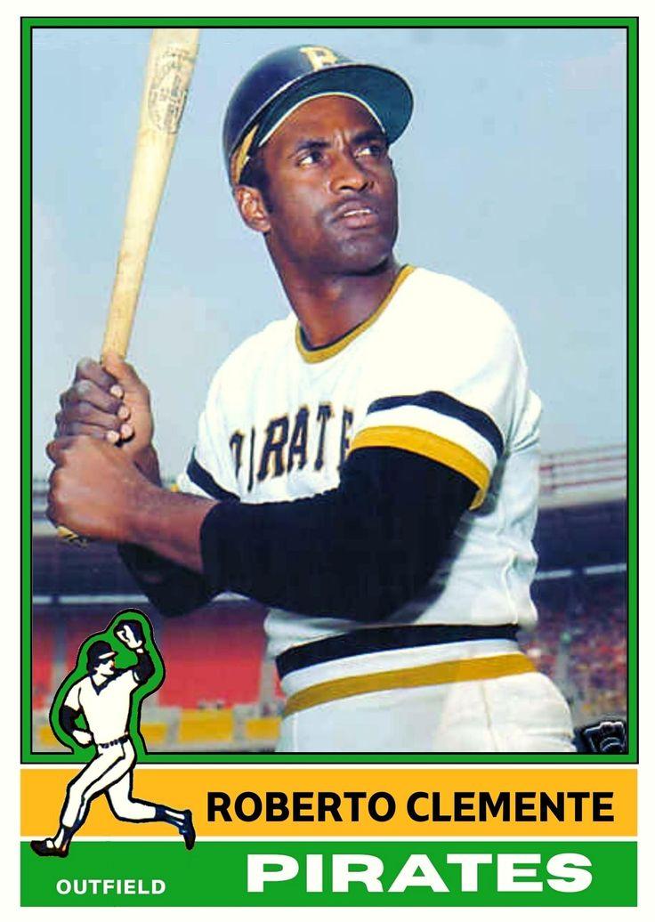 Roberto Clemente In 1976 Topps Design In 2021 Pittsburgh Pirates Baseball Pirates Baseball Roberto Clemente