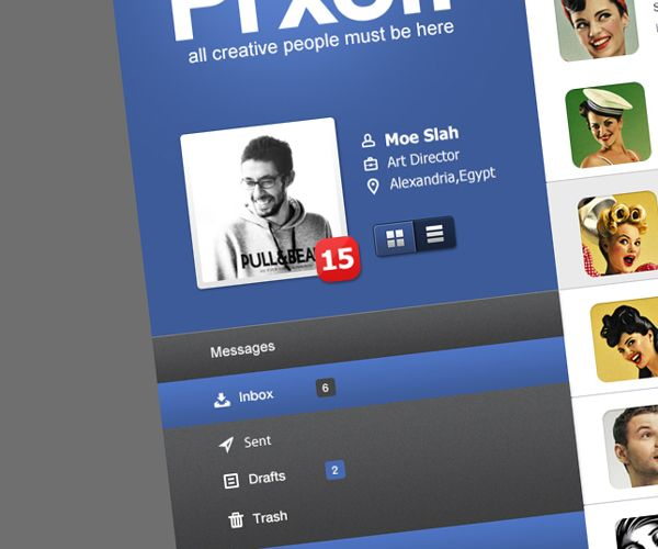 Prxofi UI Concept by Moe slah, via Behance